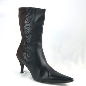 Cole Haan Brown Leather Boots Pointed Toe Bootie
